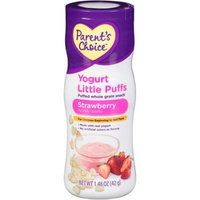 Parent's Choice Yogurt Little Puffs Strawberry Puffed Whole Grain Snack, 1.48 oz