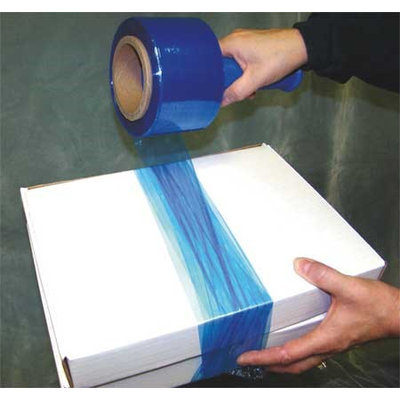 Value Brand 15A919 Hand Stretch Wrap, Blue, 1000 ft, 3In W, PK4