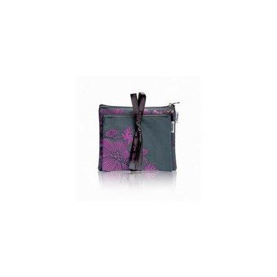 BeautyFIX Cosmetic Bag Duo Plum Floral Print,