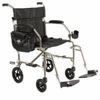 Medline Freedom 2 Ultra-Lightweight Transport Chair, Silver, 1 ea