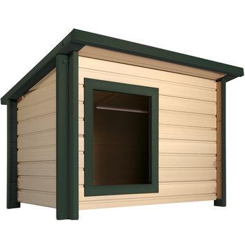 New Age Pet eco Choice Rustic Lodge Dog House MD