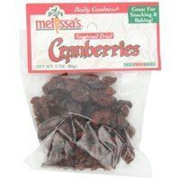 Melissa's Dried Cranberries, 3-Ounce Bags (Pack of 12)