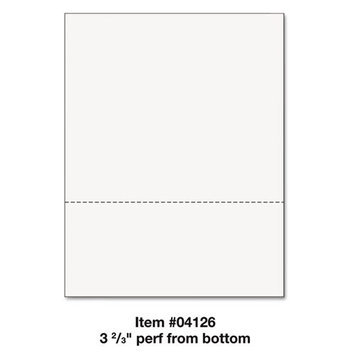 Printworks Professional 8 1/2&quot x 11&quot 89 GSM Perforated 3 2/3&quot Paper, 500/Ream