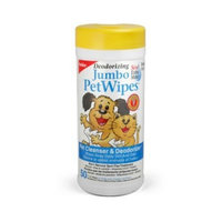 Petkin Jumbo Petwipes, 50-Count Pack (Pack of 4)