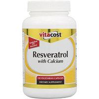 Vitacost Brand Vitacost Resveratrol with Calcium -- 100 mg - 120 Vegetarian Capsules