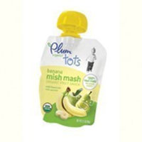 PLUMII Mish Mash, Organic, Banana, 3.17 oz (pack of 6 )