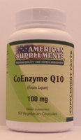 Coenzyme Q10 100 MG No Chinese Ingredients American Supplements 90 VCaps