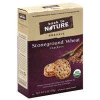 Back to Nature Organic Stoneground Wheat Crackers, 6 oz, (Pack of 6)