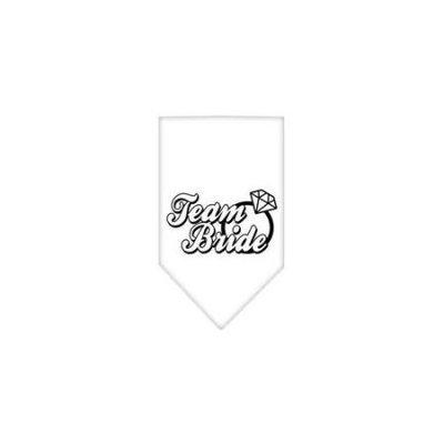 Ahi Team Bride Screen Print Bandana White Small