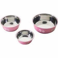 Ethical Pet Products (Spot) DSO6121 32-Ounce Fusion Designer Stainless Steel Dog Bowl, Medium, Pink
