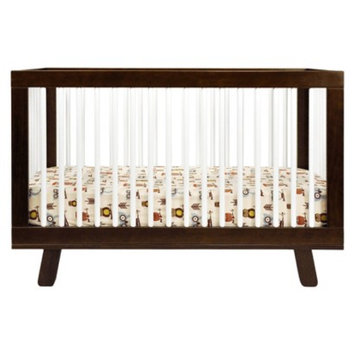 Babyletto 3-in-1 Convertible Crib with Toddler Rail - Espresso with White