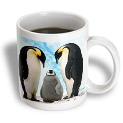 Recaro North 3dRose - Birds - Emperor Penguin Family - 11 oz mug