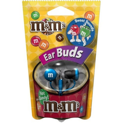 Maxell 190552 M & M's EarBud - Blue
