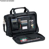 Royce Leather Expandable Briefcase - 642-BLACK-3