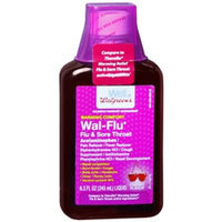 Walgreens Wal-Flu Cherry Warming Comfort Flu & Sore Throat Liquid