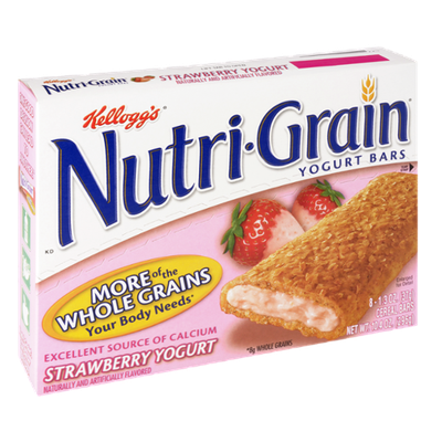 Kellogg's Nutri-Grain Strawberry Yogurt Cereal Bars