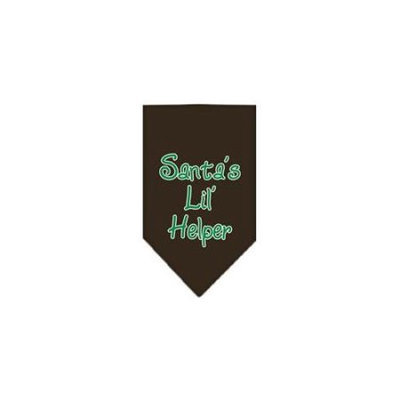 Ahi Santa Lil Helper Screen Print Bandana Cocoa Small