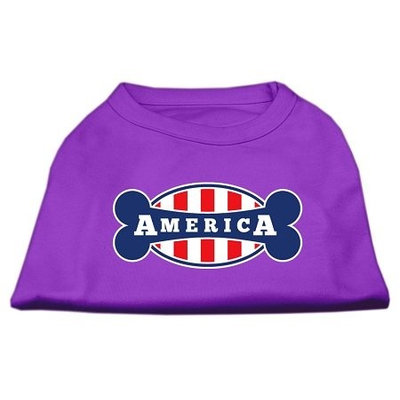 Ahi Bonely in America Screen Print Shirt Purple XS (8)