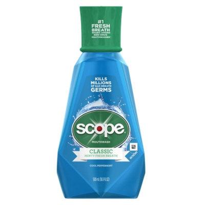 Scope Classic Original Mouthwash, Cool Peppermint, 16.9 fl oz