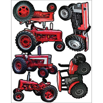 Outdoors & More 121757 Themed Die Cut Assortment-Red Tractors