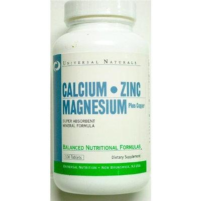 Universal Nutrition Calcium Zinc and Magnesium Plus Copper -- 100 Tablets