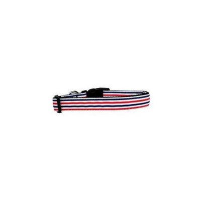 Ahi Patriotic Stripes Nylon Dog Collar Medium