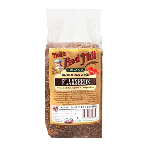 Bob's Red Mill Organic Natural Raw Whole Flaxseeds