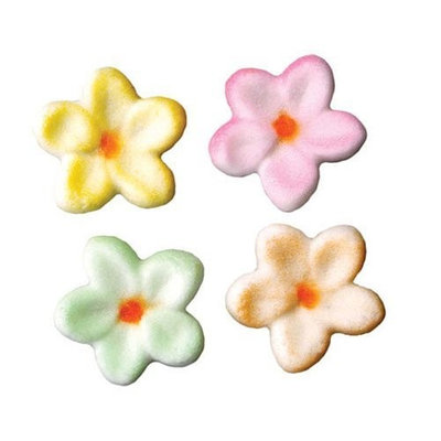 Luck's Lucks Dec-Ons Decorations Molded Sugar/Cup-Cake Topper, Small Flower Assortment, 1 Inch, 308 Count