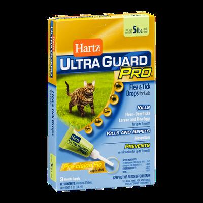Hartz Ultra Guard Pro Flea & Tick Drops for Cats 5lbs - 3 CT