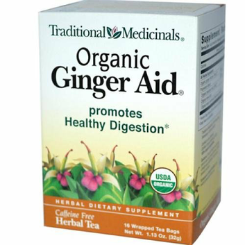 Traditional Medicinals Organic Ginger Aid Herbal Tea 16 Tea Bags Case of 6