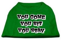 Ahi You Come You Sit You Stay Screen Print Shirts Emerald Green XXXL (20)