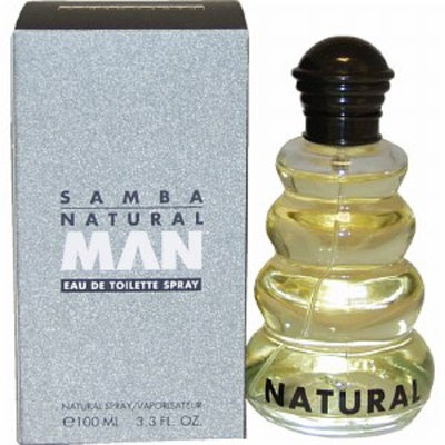 Samba Natural Eau de Toilette Natural Spray for Men, 3.3 fl oz