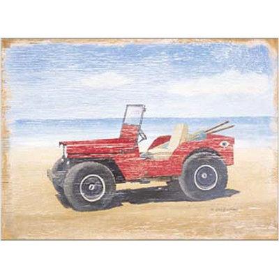 Art4Kids Art 4 Kids Red Beach Buggy Canvas Art