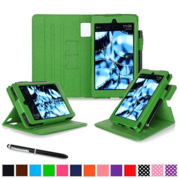 Kindle Fire HD 6 Tablet (2014) Case, roocase new Kindle Fire HD 6 Dual View Folio Case with Sleep / Wake Smart Cover with Multi-Viewing Stand for All-New Fire HD 6 Tablet (2014), Green