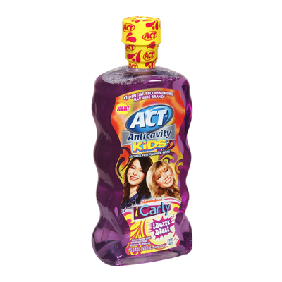 Act iCarly iBerry Blast Anticavity Kids Alcohol Free Fluoride Rinse