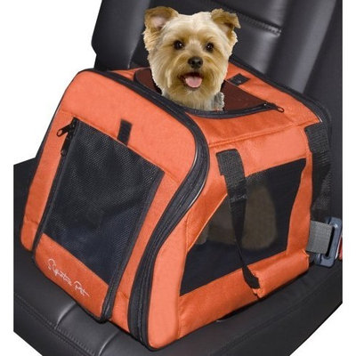 Pet Gear Signature Pet Car Seat & Carrier for cats and dogs up to 12-pounds, Terra Cotta