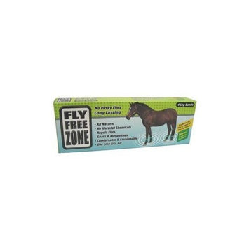 Fly Free Zone,Inc. HB-00003 Green Fly Free Zone Horse Leg Bands 4 Pack