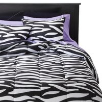 Xhilaration Twin XL Zebra Comforter Set