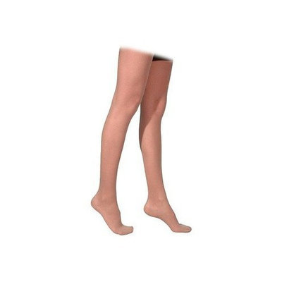 Sigvaris 770 Truly Transparent 20-30 mmHg Women's Closed Toe Thigh High Sock Size: Large Long, Color: Dark Navy 08