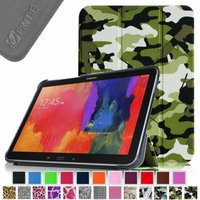 Fintie Smart Shell Case Ultra Slim Lightweight Stand Cover for Samsung Galaxy Tab 4 10.1 Tablet, Camouflage Green