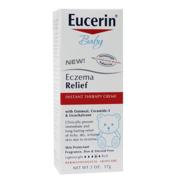 Eucerin Baby Eczema Relief Instant Therapy, Fragrance Free, 2 oz