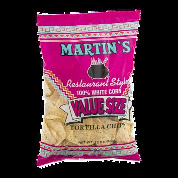Martin's 100% White Corn Restaurant Style Tortilla Chips Value Size