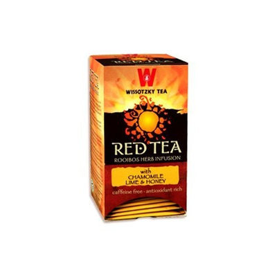 Wissotzky Tea Wissotzky Red Tea with Chamomile, Lime & Honey, 1.41-Ounce Boxes (Pack of 6)