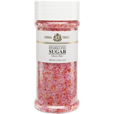 India Tree Cherry Pink Sparkling Sugar, 7.5 oz (Pack of 3)