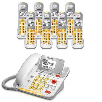 Uniden D3098-8 DECT 6.0 Amplified Corded/Cordless Phone w/ 7 Extra Han