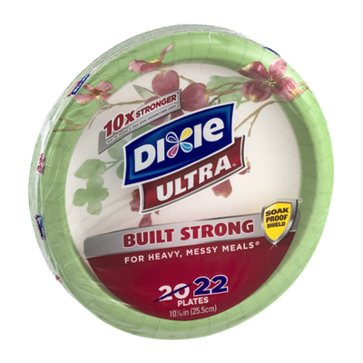 Dixie Ultra Built Strong Plates - 22 CT