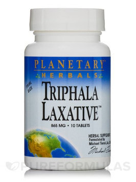 Triphala Laxative 865mg by Planetary Herbals - 10 Tablets