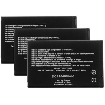 Battery for Kyocera TXBAT10188 (3-Pack) Mobile Phone Battery