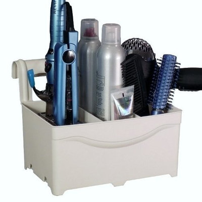 Style Away STYLEAWAY - IVORY WHITE; Organizer/Hanger for Blow Dryer, Curling Iron, Flat Iron, Hair Styling Products