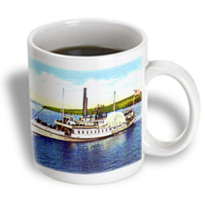 Recaro North 3dRose - Sandy Mertens New Hampshire - Steamer Mt. Washington on Lake Winnipesaukee - 15 oz mug